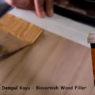 aplikasi dempul wood filler